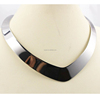 Cheap Making Stainless Steel Jewelry V Shaped Silver Choker Necklace Collar