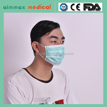 Disposable Face Mask Non-Woven Cloth Medical Surgical Face Mask Anti Dust Anti Flu 3 Layers