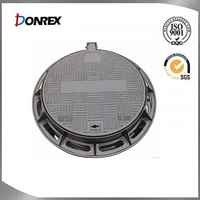 Heavy duty ductile iron manhole cover with EN124 standard