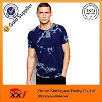 guangzhou factories wholesale tie dye acid wash Indigo t shirts high quality organic t shirt MEN T SHIRT