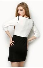 2015 nuevo diseño ropa para mujer de la oficina de moda de calidad superior vestido de la mujer