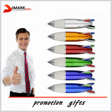 big size 4 in 1rocket shaped ballpoint pen with rubber grip
