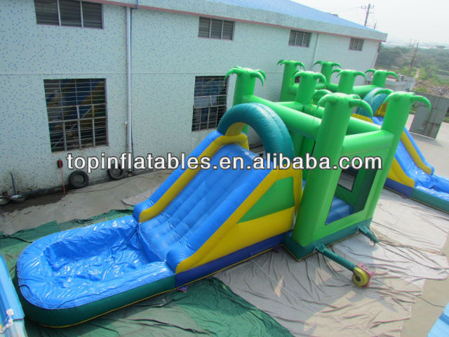 Inflable mini jumper combo inflable comercial combo diapositivas con piscina