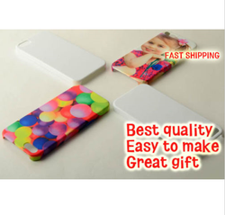 3D Sublimation FOR iPhone 5/5S blank cell phone case cover Glossy White
