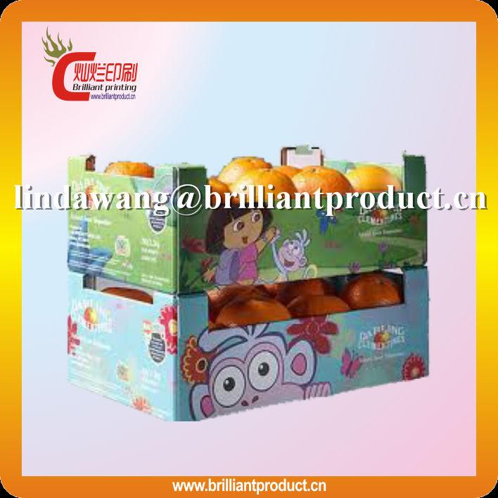 Haute qualité 3 couche une flûte tomates cerises emballage boîte / fruits emballage boîte