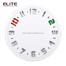 original modern design frosted glass wall time clock
