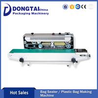 Professional continuous working plastic bag sealing machine