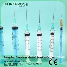 CE/ISO safety auto-disable locked needle syringe option size 0.5ml 1ml 2ml 3ml 5ml 10ml