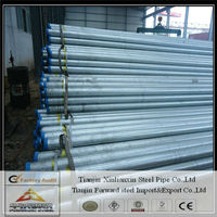 Electrical erw gi pipe/BS1387 hot dipped gi tube in bundle or bulk