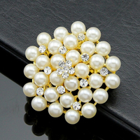 Christmas classic hot crystal diamond brooch beads fashion brooch flower jewelry accessories
