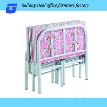 queen size pink single folding metal bed