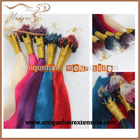 best quality wholesale 100 human hair Chinese remy hair extensions micro ring hair