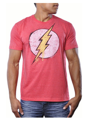 The Flash DC Comics Mens Vintage Superhero Bolt Logo Tee Shirt