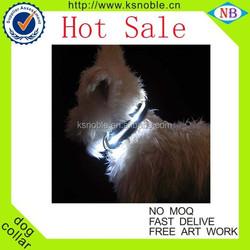 New Design Blue Double Sided Flashing Dog Collar LED Pet Collar
