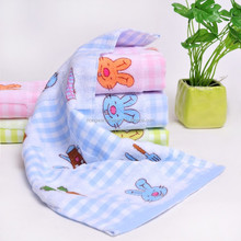 China supplier Dobby And Embroidery bleached Face Towel