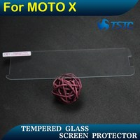 Best tempered galss screen protector for motorola X with retail package , raw material imported from Japan