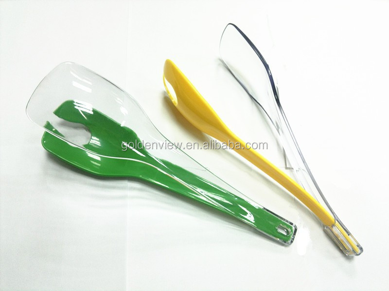 100 food grade plastic material salad server salad tool for Colorful kitchen tools