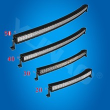 50inch curved off road led light bar 24w/36w/60w/72w/100W/120w/140w/180w/200w/240w/288w arc cambered auto roof combo\spot\flood