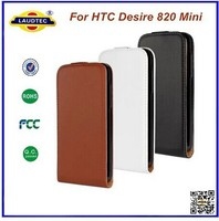 New Design Ultra Slim PU Leather Flip Cover Case for HTC Desire 820 Mini