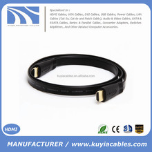 High speed 3D Gold--plated Flat HDMI Cable full HD 1080P 3D Male to Male Cord for PS3 XBOX HDTV 0.5m 1.5m 2m 3m 5m 10m 15m 20m
