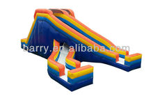 2013 new cheap giant pvc/inflatable slide game,inflatable two slides to have fun
