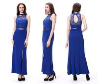 Lady Clothing Wholesale Elegant Blue Evening Dress