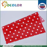 lovely Printed Cotton Terry Laminated Fabric for bag raincoat tablecloth