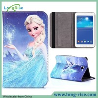 Hot Sale Frozen Cartoon Design Flip Cover Case for Samsung Galaxy Tab 3 7.0
