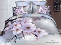 china supplier 100% cotton bed sheets queen size 3d comforter set