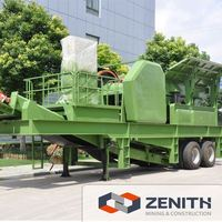 Zenith large capacity mobile jaw crusher for building material with low price