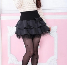 Wholesale fall/winter clothing ladies double edges pleated skirt women skirts