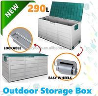 New Lockable Outdoor Storage Box Container Weatherproof Garden Deck Toy Shed