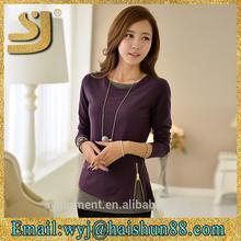 Nova chegada tops blusa de viscose, blusa camisa de mulheres modelo