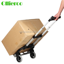 Cost Effective 175 lb Lightweight 2 Wheels Foldable Shopping Cart Trolley