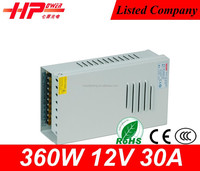 High quality Switching Power Supply 30a 360w Input Ac110v Or 220v Output Dc 12v Power Supply