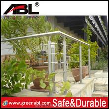 Morden garden designs stainless steel railing balcony steel terrace