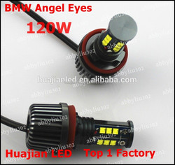 120W Angel Eyes Build In Canbus LED 7000K Fit For BMW E90 E91 Halo Light Lamp