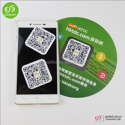 Custom full color printed Eco-friendly Microfiber Sticky Mobile Screen Cleaner