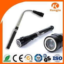 3LED Bulb Aluminium Flexible Ultra Bright Tool Flashlight Pen Torch With Ball Pen