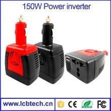 150W car power inverter 12v to 220v USB 5V 2.1A use for laptop,car navigation