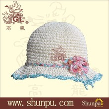 2015 children's fashion paper straw hats