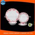 Vajillas y cubiertos de porcelana china blanco, 16 piezas