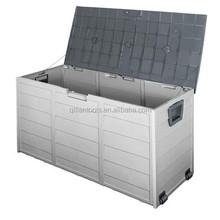 NEW Outdoor Storage Box 290L Plastic Container Weatherproof Brown Grey