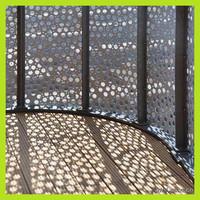 exterior decorative perforated metal sheet wall panels