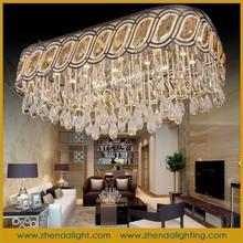2015 factory high quality cognac color crystal hanging ceiling light Home Decoration Lighting& wholesale modern led chandelier