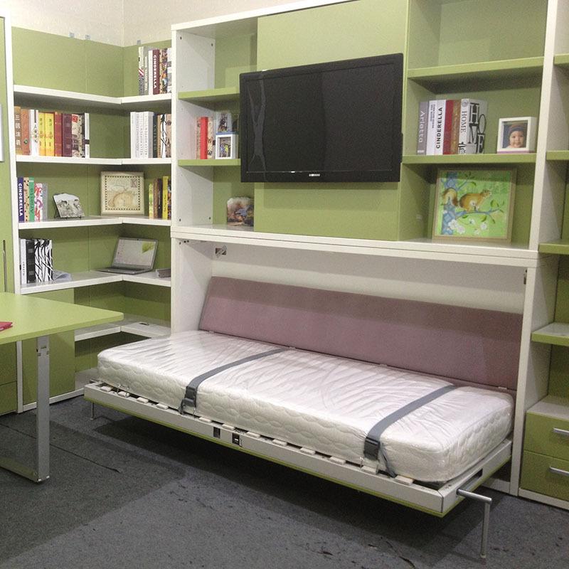 Horizontal Single Murphy Bed Space Saving Modern Wall Bed