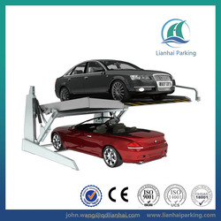 Tilting 2.0 Ton 2 floor mobile car parking solutions for two car with CE