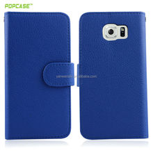 mobile phone leather case for samsung galaxy s6