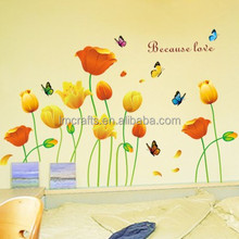 Free shipping wall sticker,home decoration,60*90CM/100*170CM, TV background,beautiful flower,tulip AM9004