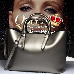 2015 New simple casual fashion genuine leather handbag women shoulder big bag fashion latest ladies handbags
